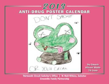 ANTI-DRUG POSTER CALENDAR - Greenville County