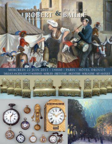 ET MODERNES - MOBILIER - OBJETS - Art Auction Robert