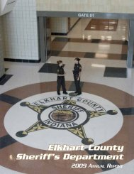 2009 annual report (.pdf) - Elkhart County Sheriff's Department