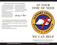 AT YOUR TIME OF NEED WE CAN HELP - Elkhart County Sheriff's ...