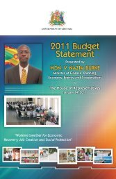 Budget Speech 2011 - Government of Grenada