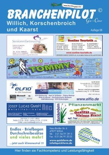 Willich, Korschenbroich und Kaarst - Branchenpilot