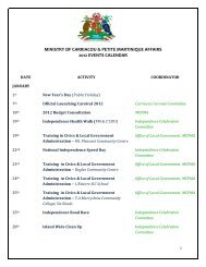 ministry of carriacou & petite martinique affairs 2012 events calendar