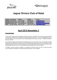 2012/04 - The Jaguar Drivers Club of Natal, South Africa.