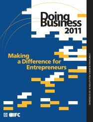 Doing Business 2011: Making a Difference for Entrepreneurs