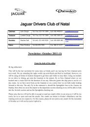 2011/10 - The Jaguar Drivers Club of Natal, South Africa.