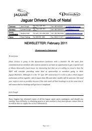 2011/02 - The Jaguar Drivers Club of Natal, South Africa.