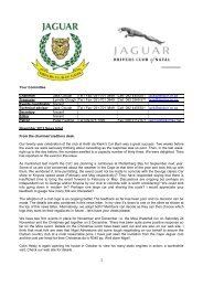 2012/11 - The Jaguar Drivers Club of Natal, South Africa.