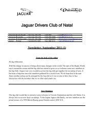 2011/09 - The Jaguar Drivers Club of Natal, South Africa.
