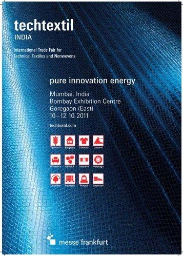 pure innovation energy - Messe Frankfurt India