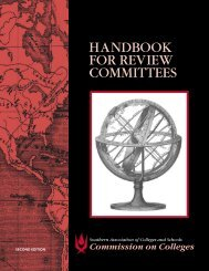 Handbook for Review Committees - Commission on Colleges
