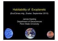 Habitability of Exoplanets