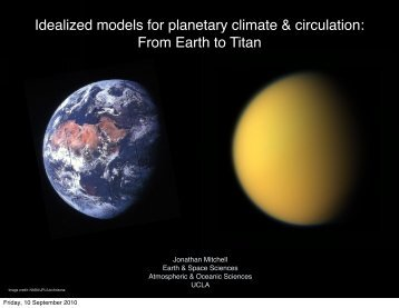 Idealized models for planetary climate & circulation: From Earth to ...