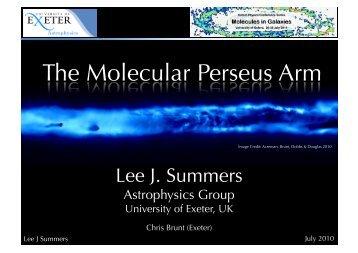 Lee J. Summers - University of Exeter