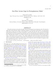 Gas Flow Across Gaps in Protoplanetary Disks - School of Physics ...