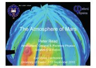 The Atmosphere of Mars - University of Exeter