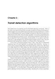 Transit detection algorithms