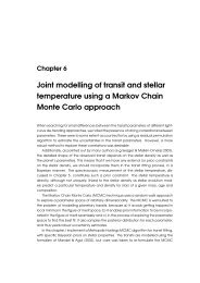 Joint modelling of transit and stellar temperature using an MCMC ...