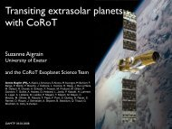 Transiting extrasolar planets with CoRoT - University of Exeter