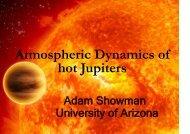 Atmospheric Dynamics of hot Jupiters
