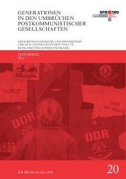 generationen in den umbrüchen postkommunistischer - SFB 580 ...