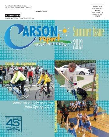 Summer 2013 - City of Carson