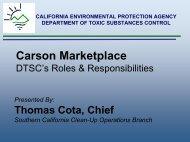 Carson Marketplace DTSC's Roles & Responsibilities