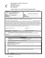 Medical Report for the CalPERS Disabled Dependent Benefit Form