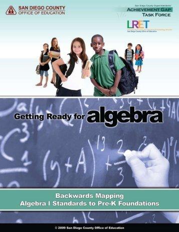 Getting Ready for Algebra Backwards Map - eusddata
