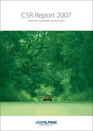 CSR Report 2007 - Alpine