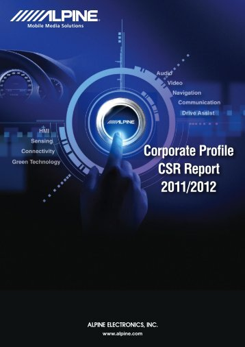 Corporate Profile CSR Report 2011/2012 - Alpine