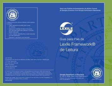 A Lexile Framework de Leitura - GeorgiaStandards.org