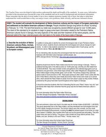 Teacher Notes - GeorgiaStandards.org