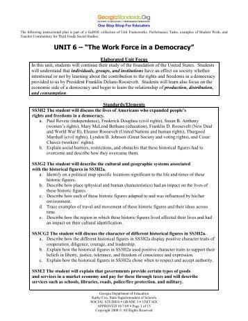 Unit 6 - GeorgiaStandards.org