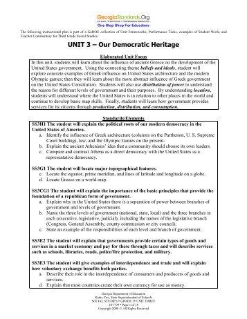 Our Democratic Heritage - GeorgiaStandards.org