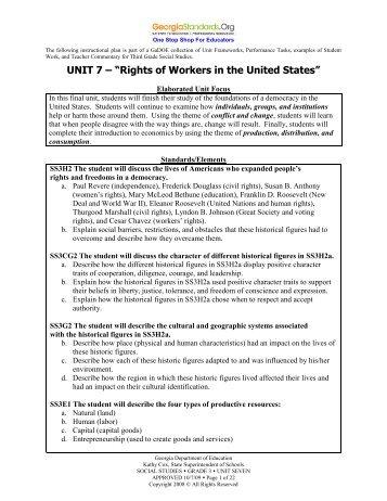 Unit 7 - GeorgiaStandards.org