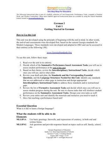 Getting Started - GeorgiaStandards.org