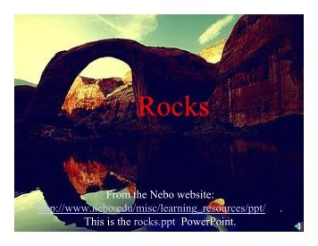 Rocks - GeorgiaStandards.org