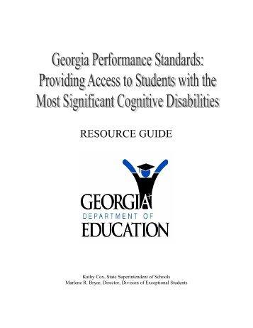 Resource Guide - GeorgiaStandards.org