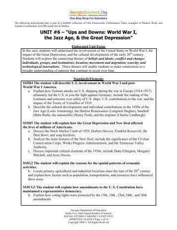 Unit 6 - Ups and Downs - GeorgiaStandards.org