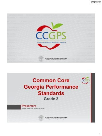 2nd Grade Presentation Slides - GeorgiaStandards.org