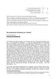 Die ästhetische Erziehung zur Freiheit[1] - Sonderforschungsbereich ...
