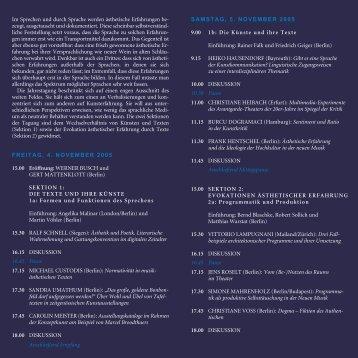 Programm (als PDF) - Sonderforschungsbereich 626