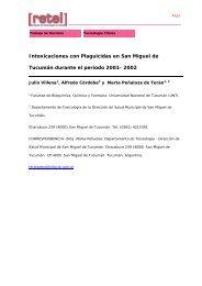 Intoxicaciones con plaguicidas en San Miguel de Tucumán