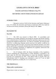 legislative council brief - Securities & Futures Commission of Hong ...