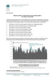 26 July 2010 Weekly update on Hong Kong's short-selling pattern