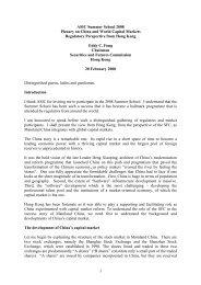Regulatory Perspective from Hong Kong - Securities & Futures ...