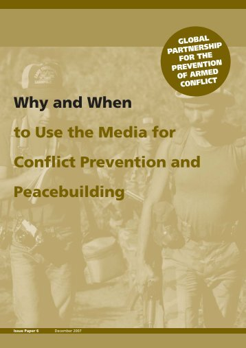 Why and When to Use the Media for Conflict Prevention - Search for ...