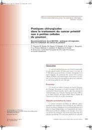 Pratiques chirurgicales dans le traitement du cancer primitif ... - sfctcv