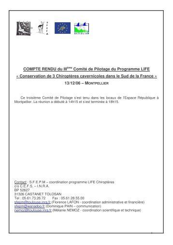 (FFS), Emmanuel COSSON (Groupe Chiroptères